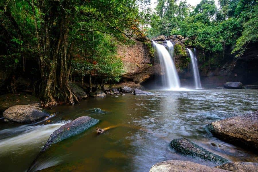 A waterfall at Khao Yai National Park