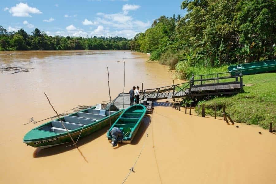 Boats in Kinabatangan Sandakan, Sepilok, Kinabatangan