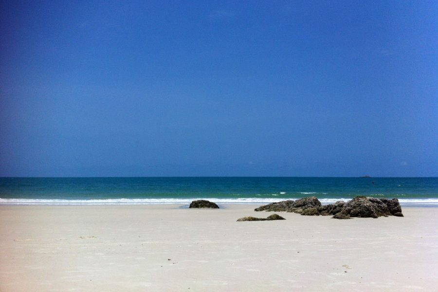 A deserted beach with white sand, Koh Samet