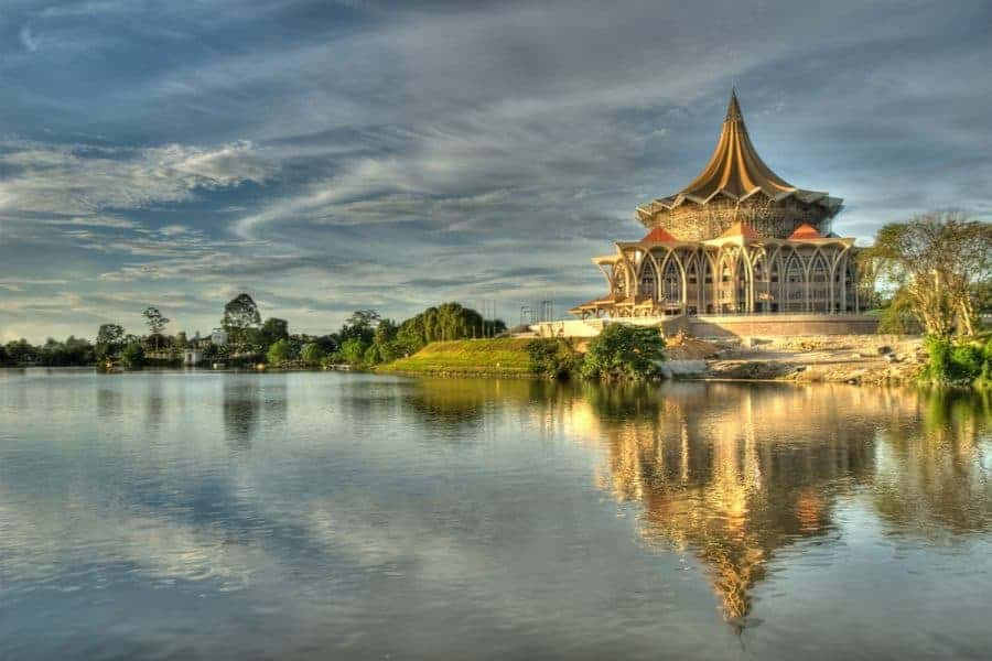 A view across the water in Kuching
