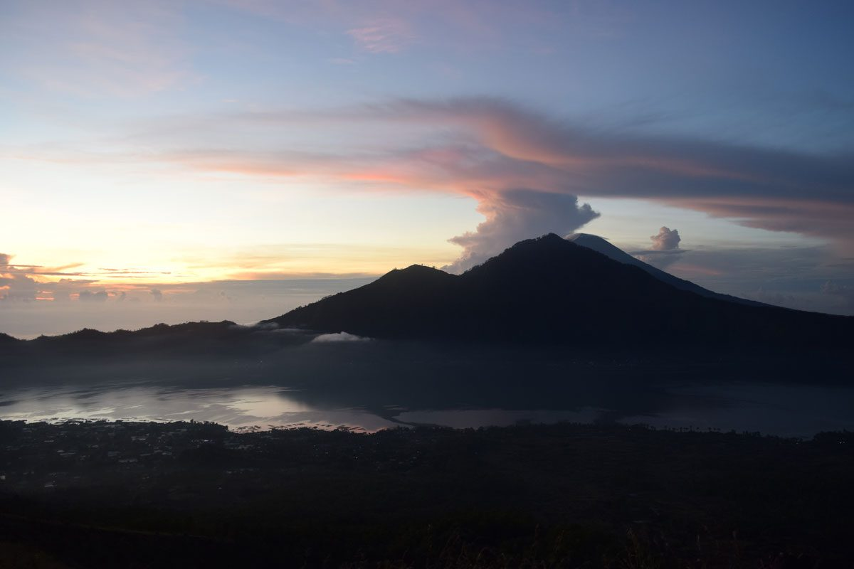 Climbing to the Active Summit of Mount Batur in Bali, Indonesia