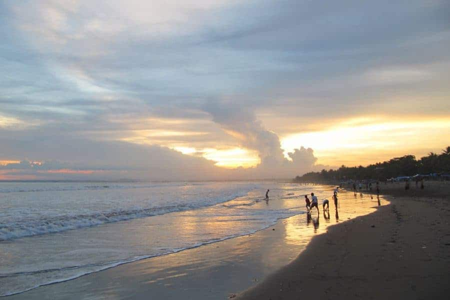 Sunset at the beach Pangandaran & Batu Karas