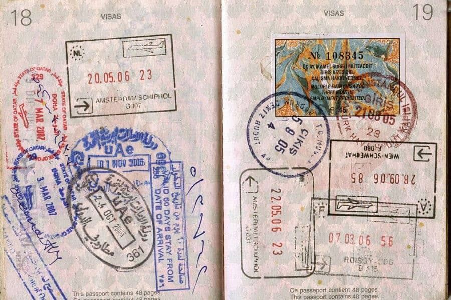 Passport-stamps-visas
