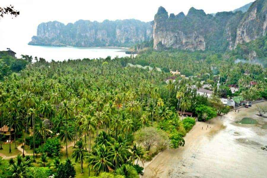 Spectacular views in Railay and Tonsai, Krabi, Thailand.