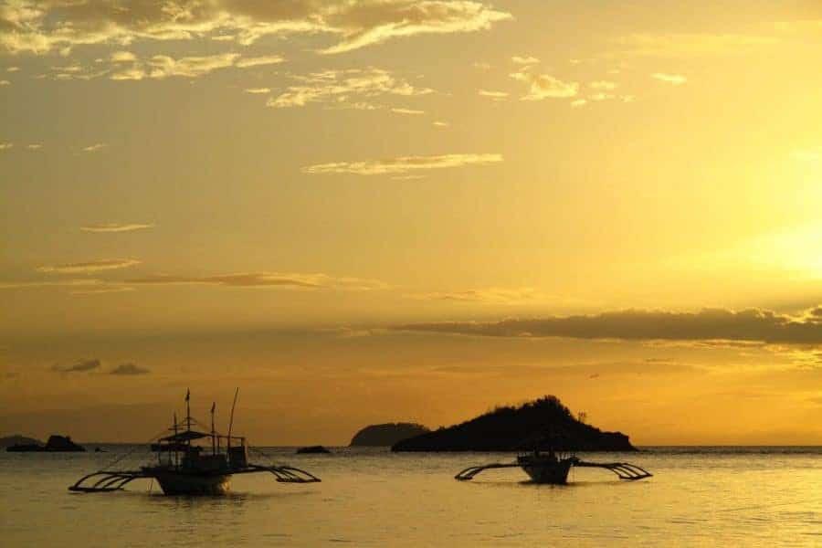 Sunset in Malapascua Island, Philippines
