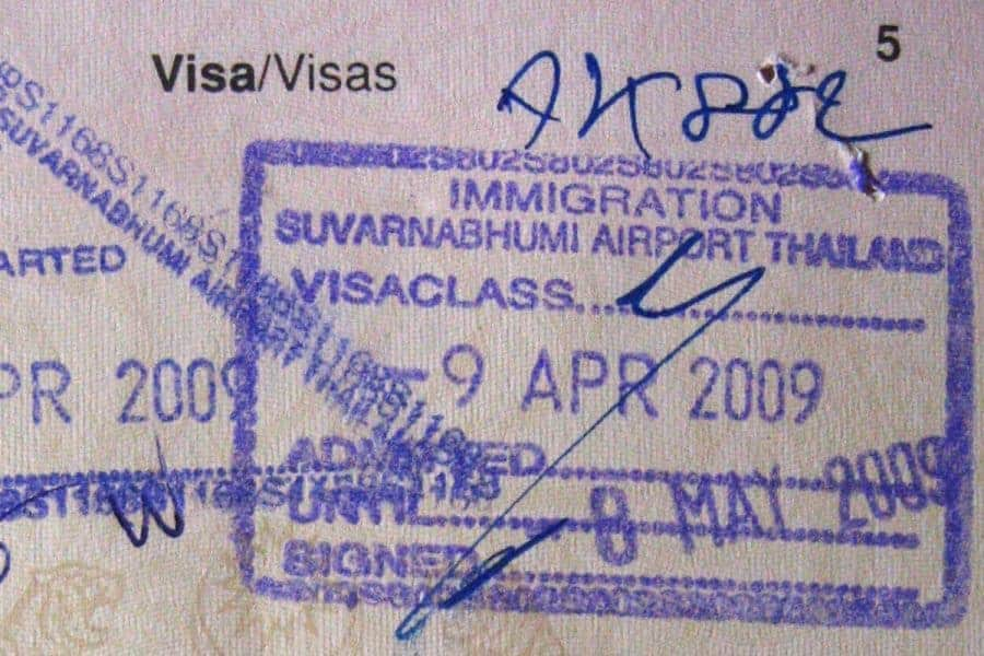 Thailand Visa Stamp
