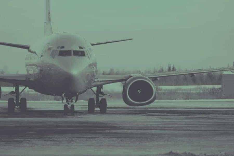 Aeroplane on the runway.
