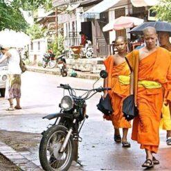 Monks in Luang Prabang, Laos.