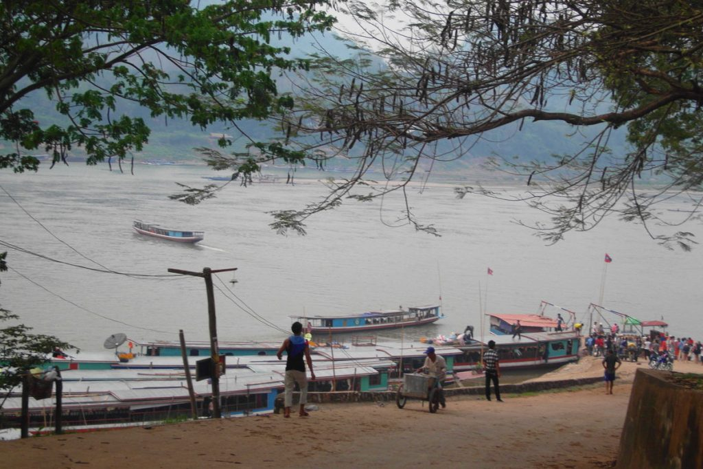 The village of Pak Beng, stopover on the two-day slowboat to Laos.