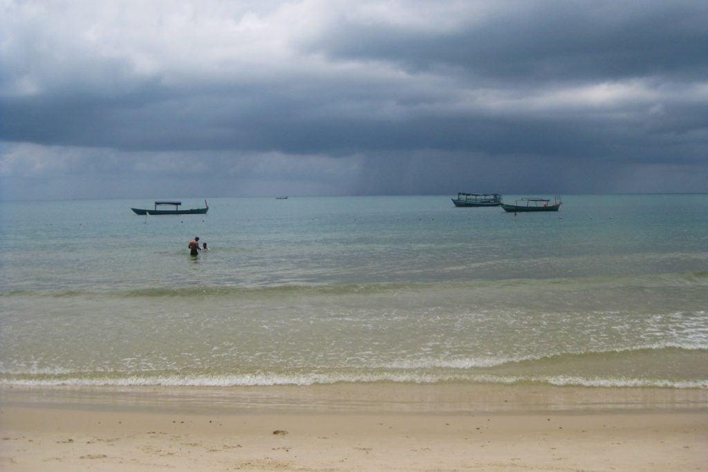 Otres beach in Sihanoukville, Cambodia.
