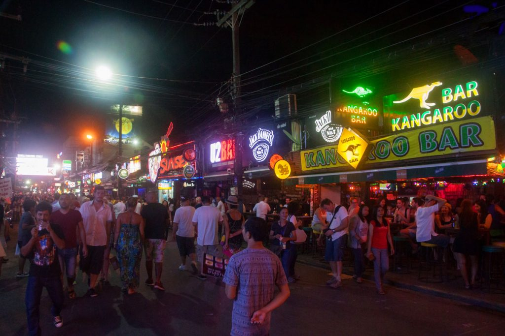 Nightlife in Patong, Phuket, Thailand.