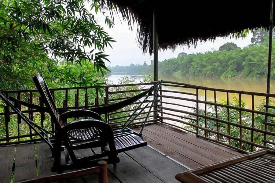 Bamboo-Hut,-Cat Tien-National-Park,-Vietnam