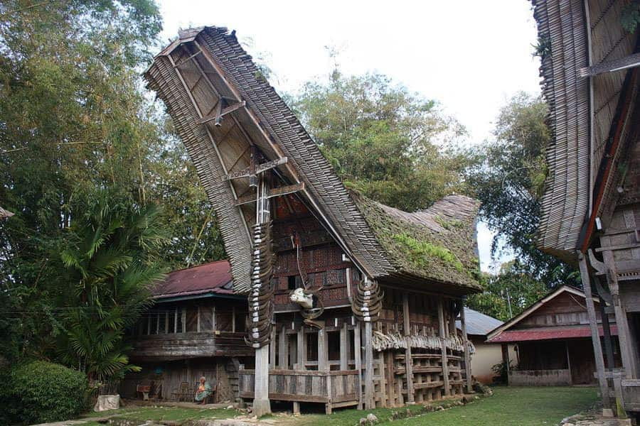 Houses of Tana Toraja, Sulawesi, Indonesia
