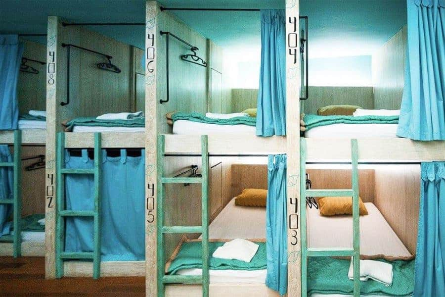 Capsule bunk beds at Nau Here