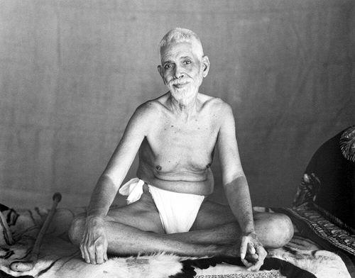 Ramana Maharshi in his loin cloth. Spiritual Extremists