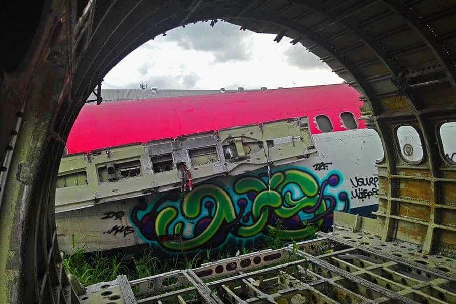 One-plane-shot-through-the-body-of-another-at-Bangkok's-aeroplane-graveyard