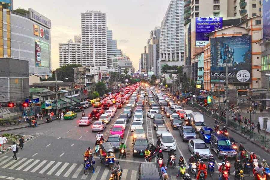 Sukhumvit traffic.