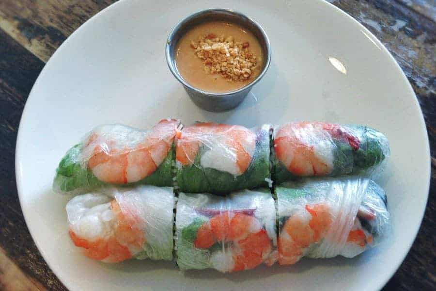 Fresh Spring Rolls in Vietnam.