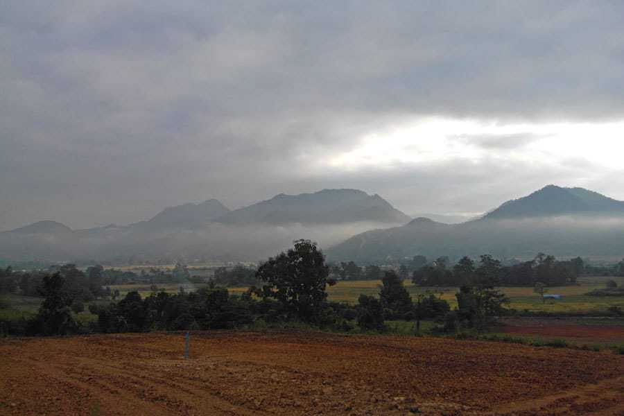 Mist over the mountains in Mae Hong Son in December.