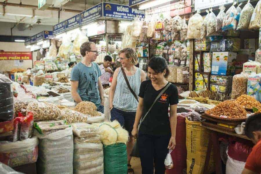 Dong Xuan Market, Hanoi, Vietnam.