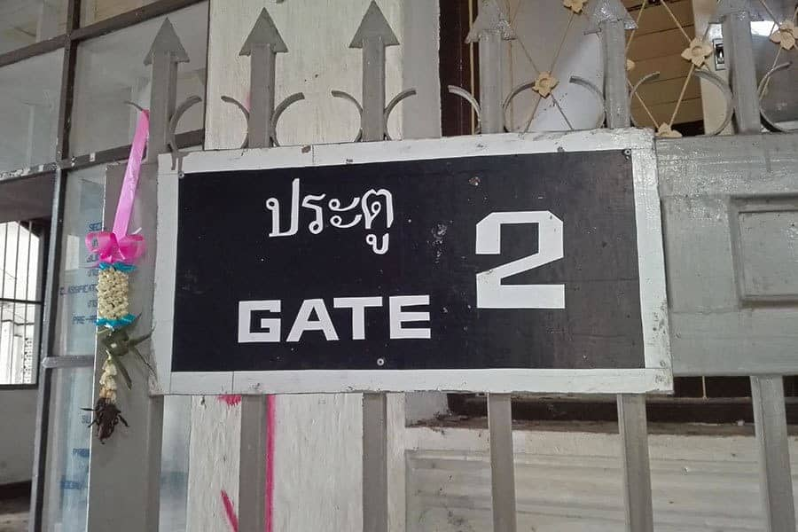Gate-2-at-the-abandoned-women's-prison,-Chiang-Mai,-Thailand
