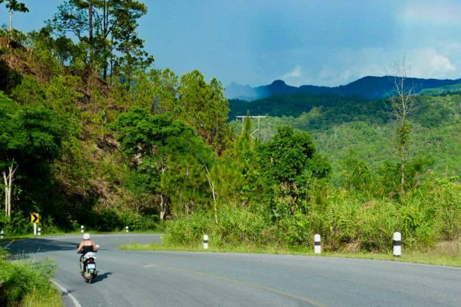 On the Mae Hong Son Loop, Northern Thailand.