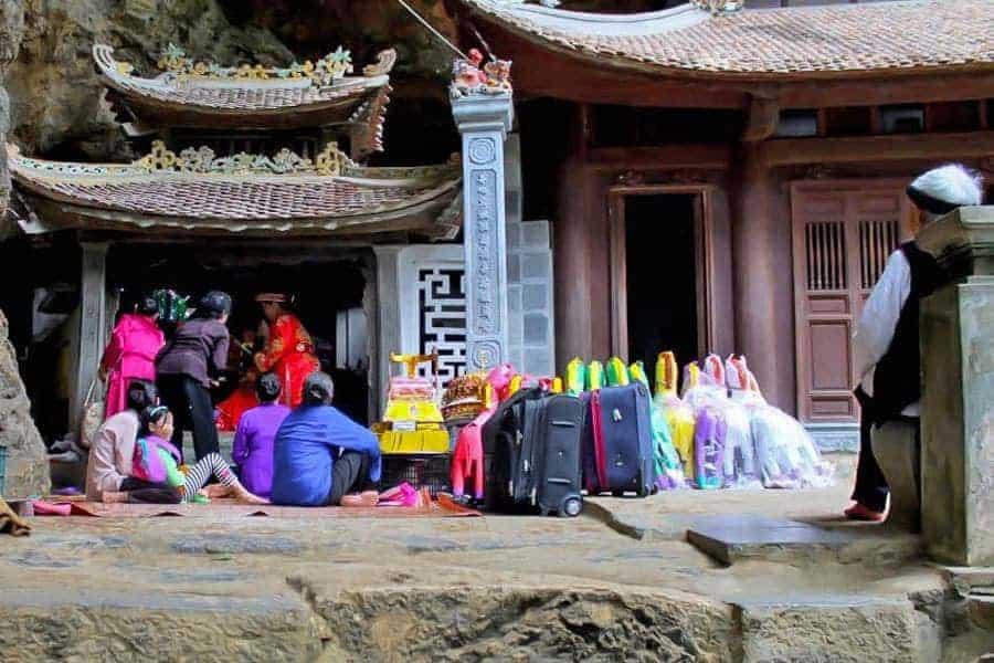 Rituals at Bích Động Pagodas, Tam Coc, Vietnam.