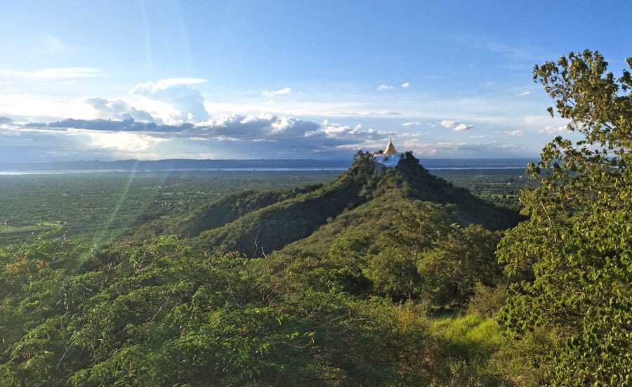 View of Kone Daw Kyi Pagoda from the hike near Myanmar Han Hotel, Bagan.