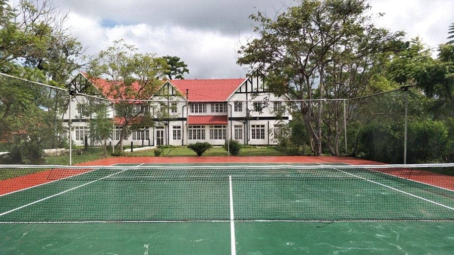The tennis courts at Kalaw Heritage Hotel.