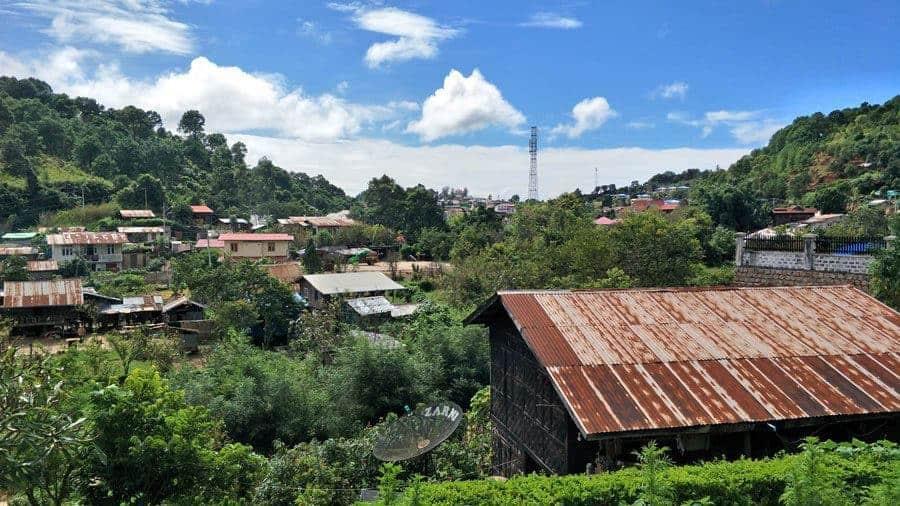 A view across Kalaw, Myanmar.