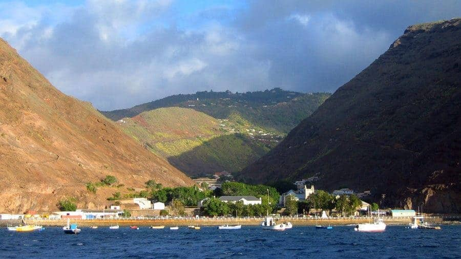 Jamestown Port at Saint Helena Island.