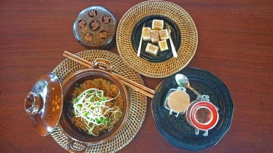 Shan Noodles and traditional Burmese desserts.