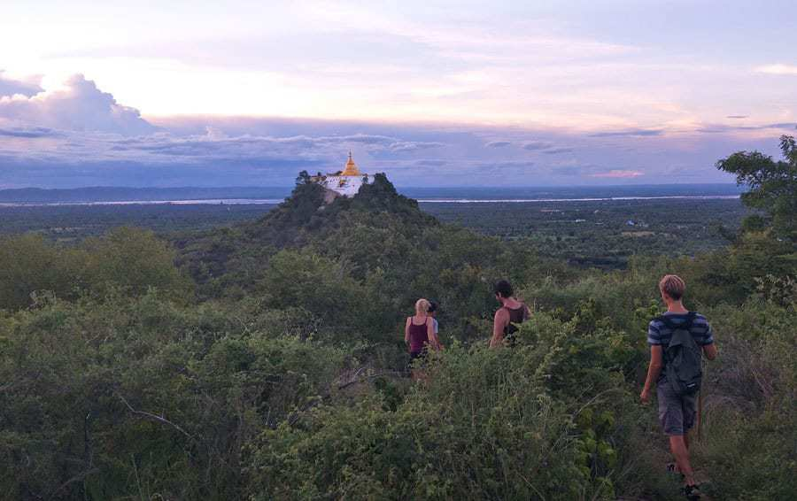 The pagoda hike from Myanmar Han Hotel.