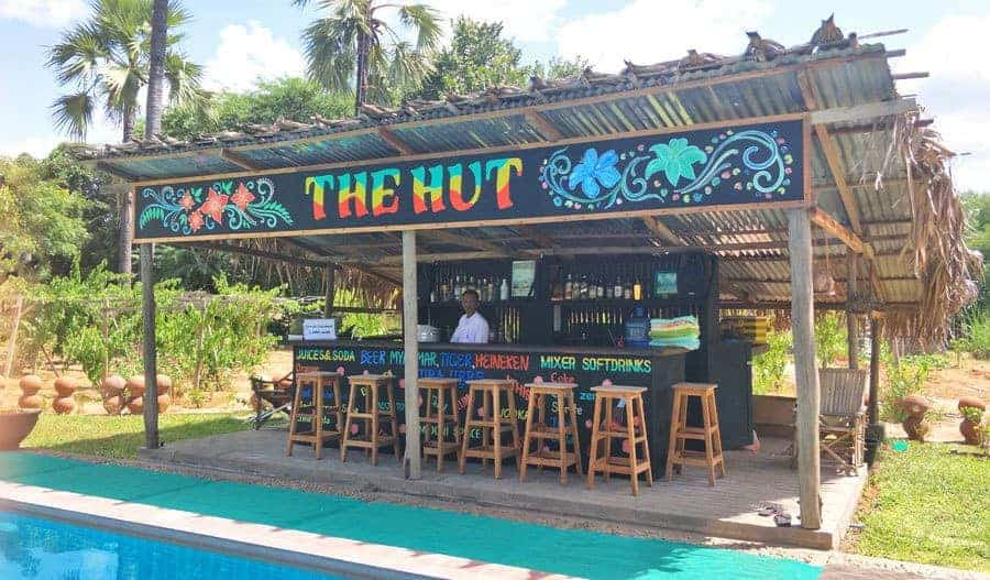 The Hut, Poolside Bar at Myanmar Han Hotel, Bagan.