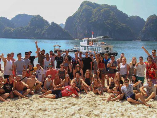 A Group Poses On The Beach - Castaways