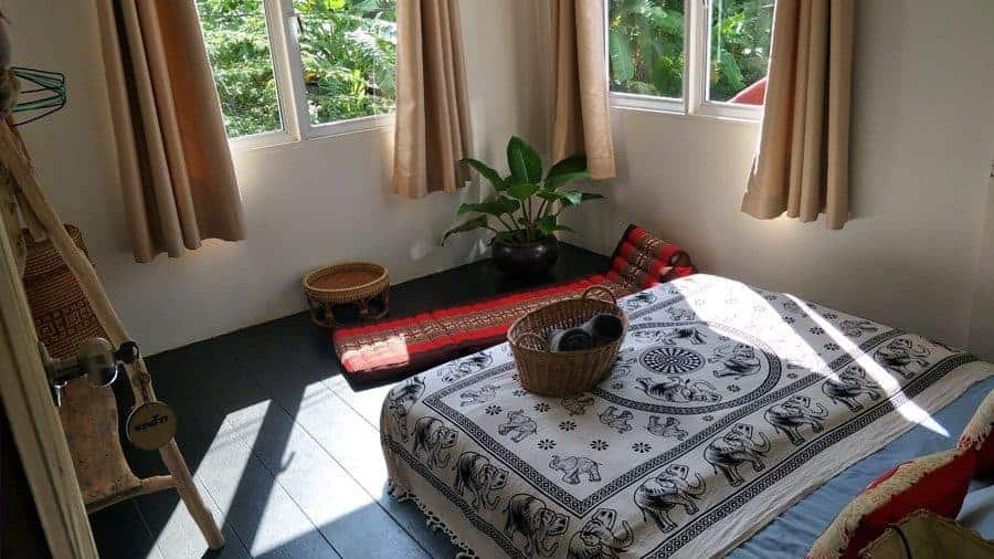 Bedroom at Sweet Life Community Guesthouse, Koh Lanta, Thailand.