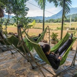 Chilling in Mai Chau Valley, Vietnam.