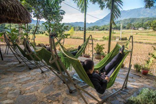 Chilling in Mai Chau Valley, Vietnam.