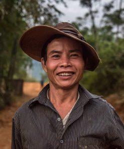 A friendly local in Mau Chau Valley, Vietnam.