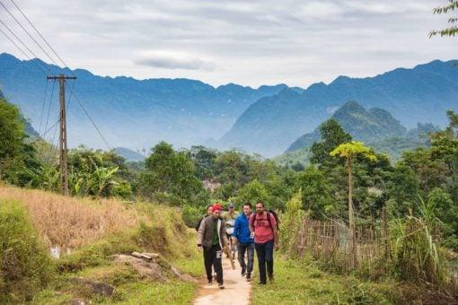 Mountains of Mau Chau Valley, Vietnam.