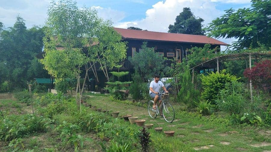 Free bikes! Cycling from Little Eco Lodge, Inle Lake, Myanmar.