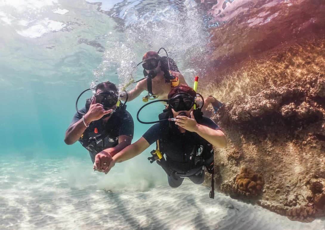 Learning to dive in shallow waters in Koh Tao