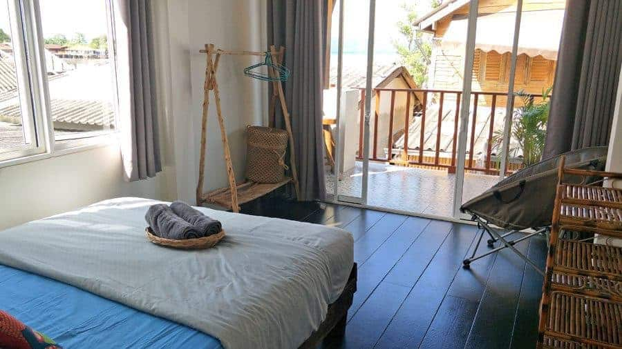 The left bedroom at Sweet Life Community Guesthouse, Koh Lanta.