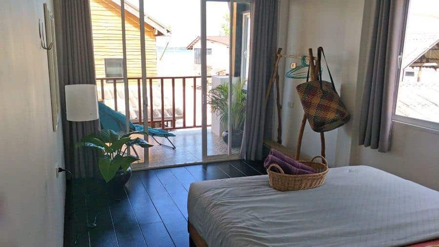 The right bedroom with sea view at Sweet Life Community Guesthouse, Koh Lanta.