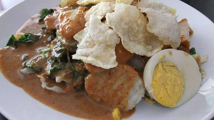 Gado Gado, a typical Indonesian dish, photo taken in Senggigi