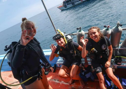 Taking the first plunge in Koh Tao!