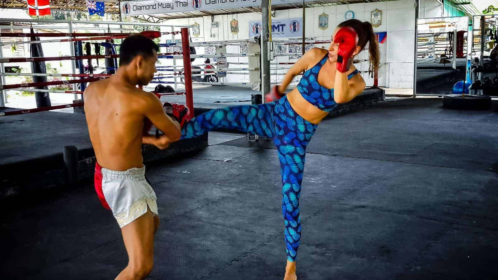Muay Thai Boxing in Koh Phangan.