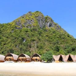 The Huts At Castaways Island, Halong Bay, Vietnam.