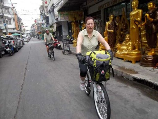 Bangkok Bike Tour Statue Alley