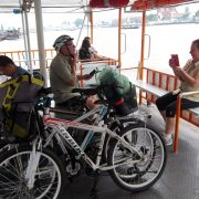 On the ferry in Bangkok – Bangkok Bike Tours